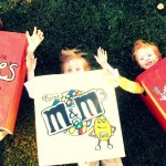 diy halloween costumes m&m's reese's nerds candy chocolate handmade painted