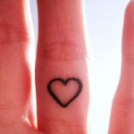 heart - tattoo finger hand valentine's day