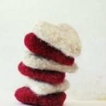 valentine's day party decorations heart red white Etsy handmade vintage felt - mmim2