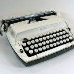 white etsy handmade vintage color typewriter - avant garage