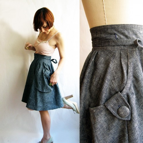 Etsy Picks:  Denim skirts