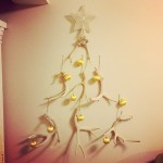 MayDae Antler Christmas Tree Yellow Vintage Ornaments