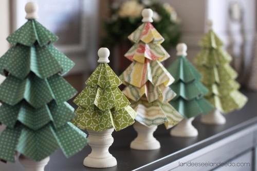 Diy Paper Christmas Tree DecorationsDecorating Ideas