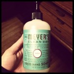 MayDae Instagram Meyers Basil Hand Soap