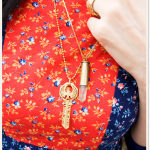 bullet necklace bleubird vintage