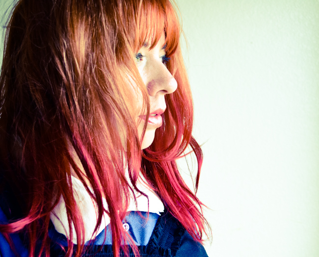 Red on red ombré hair