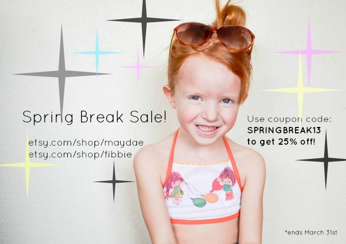 etsy sale coupon code spring break vintage fibbie maydae