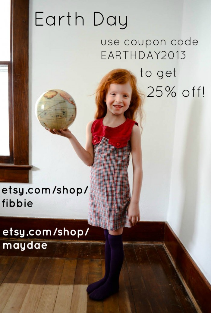 earth day etsy sale vintage fibbie maydae 2013