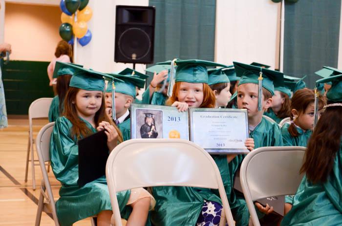 Gemma kindergarten graduation