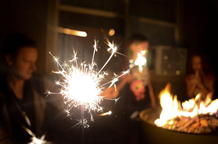 back to school party celebration kids diy cute smores fire sparklers maydae