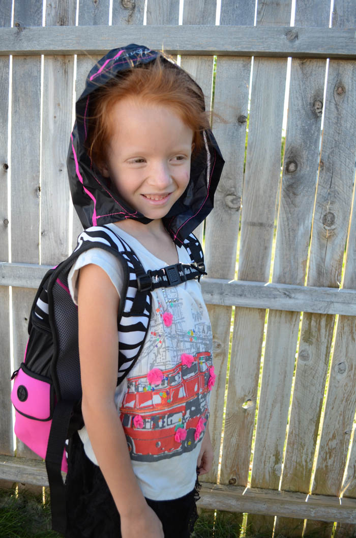 super me backpack hero hood hoodie cape kids back to school zebra pink girls kids review