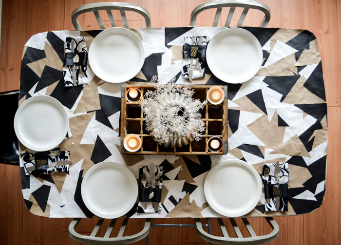 DIY:  Geometric Paper Tablecloth