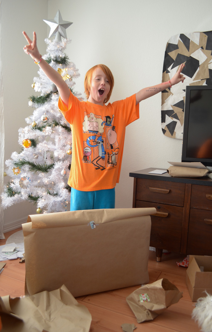Our Christmas Eve and Christmas morning family traditions fun unwrapping gifts love