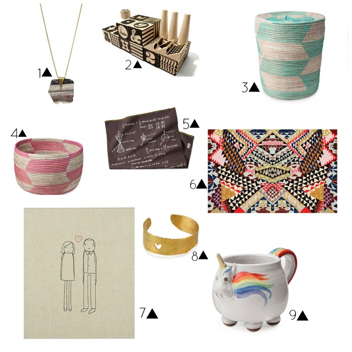 uncommon goods review gifts site handmade unique uncommongoods.com gift guide unicorn necklace basket kids ladies women rug portrait