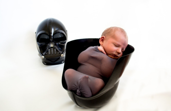 baby oliver newborn portraits newborn photography newborn photos boy unique original star wars nerd geek funny darth vadar cute sweet baby infant ideas maydae stephanie may